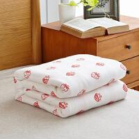 纺毛巾被双人单人加厚六层纱布盖毯儿童夏凉被