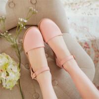 夏季新款儿童凉鞋包头高跟鞋中大童学生公主仙女鞋