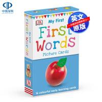 英文原版 DK单词启蒙认读卡 My First Words 16张双面全彩卡片 闪示卡 0-3-6岁低幼儿童英语认知启蒙