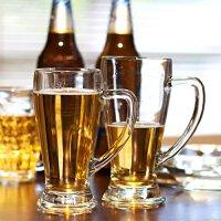Bormioli Rocco 意大利原装进口无铅玻璃巴伐利亚啤酒杯 牛奶杯 玻璃水杯 4种容量 2只装