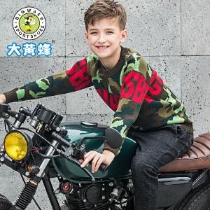 大黄蜂男童装2018秋季新款儿童圆领毛衣韩版长袖T恤春秋男孩学生