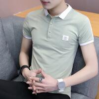 夏季短袖t恤男翻领2018新款Polo衫男衬衫领潮流半袖纯棉体恤衣服