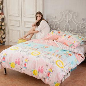 多喜爱家纺 美美客MMK 新品 纯棉床上用品全棉四件套 美丽的灰姑娘