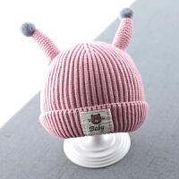 婴儿帽子秋冬季新生儿宝宝护耳毛线帽6小孩12个月3男1岁0婴幼儿女 均码
