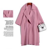 【铭】2017冬装新款韩版双面呢羊绒大衣女宽松百搭7A8172呢子大衣