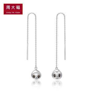 周大福 珠宝首饰tokidoki至死不渝系列925银耳线 AB38671>>定价