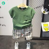 新款套装宝宝短袖两件套洋潮儿童夏季