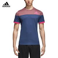 adidas阿迪达斯2018年新款羽毛球服男子运动系列透气短袖T恤