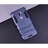 小米5s plus手机壳指环保护套全包5sPlus防摔软硅胶硬壳创意支架 黑