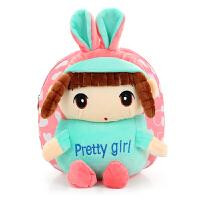 韩版幼儿园双肩包1-2-3岁宝宝小书包可爱背包卡通包包男女儿童潮 帆布兔耳朵娃娃 粉色