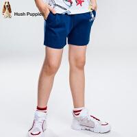 【5折价:79元】暇步士童装夏季新款男童短裤时尚舒适撞色运动短裤儿童短裤