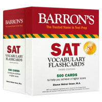 巴朗SAT词汇卡片 英文原版 SAT Vocabulary Flashcards Barron's Test Prep