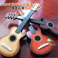 25寸非木质六弦可弹奏儿童小吉他玩具音乐器琴玩具送琴弦拨片a287 +背带+背包