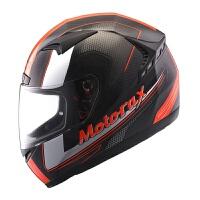 意大利裂痕碳纤维全盔摩托车头盔 进口碳纤维防雾 桔红色 碳纤维极速荧光红