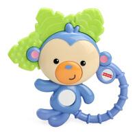 美国费雪牙胶手摇铃宝宝早教铃铛幼儿手摇铃新生儿玩具3-6-12个月