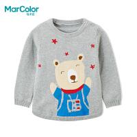 【清仓特价:44】巴拉巴拉旗下马卡乐冬季男童卡通小熊圆领百搭长袖套头毛衫