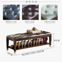 新中式实木换鞋凳储物凳收纳凳玄关鞋架鞋凳式鞋柜简约现代穿鞋凳