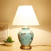 东联LED床头台灯创意复古陶瓷台灯温馨卧室书房装饰古典灯具灯饰