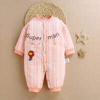 婴儿秋冬装一两个月男女孩0到3个月6宝宝12连体衣服4加厚1岁8