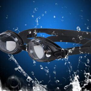 近视防雾游泳眼镜 高清舒适单体硅胶泳镜
