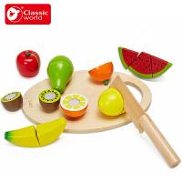 可来赛儿童水果蔬菜切切乐玩具男孩女孩切切看厨房过家家玩具套装