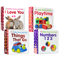 DK触摸书Baby Touch and Feel系列4本DK things that go/DK Numbers 1,