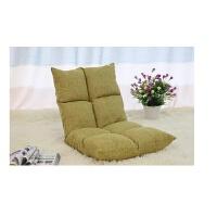 棉麻八格懒人沙发榻榻米折叠床上电脑飘窗地板阳台靠背坐垫一体椅 110*52*13CM