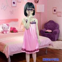 儿童睡衣夏季女童睡裙吊带中大童小孩女孩子宝宝蕾丝公主冰丝薄款