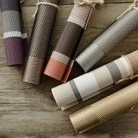 乐唯仕隔热餐垫简约纯色PVC餐垫彩条纹餐垫隔热/碗垫/防滑