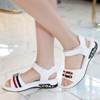 女童凉鞋夏季新款韩版中大童真皮小学生女孩公主鞋儿童凉鞋女