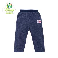 迪士尼Disney童装男女宝宝裤子春季新品保暖抓绒休闲裤直筒长裤171K734