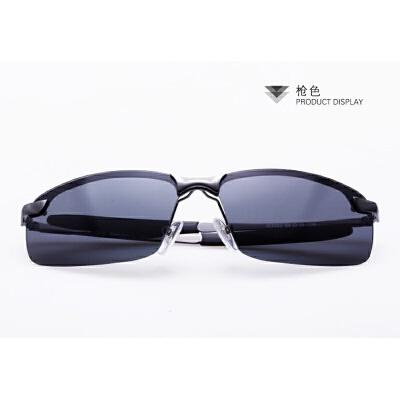 无框墨镜眼镜架黑色旅行男人眼镜框方块大方潮流防紫外线车载镜框SN7363