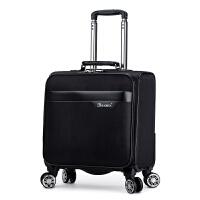 18寸小登机箱商务男士出差行李箱万向轮防水牛津布行李箱旅行箱包 18寸