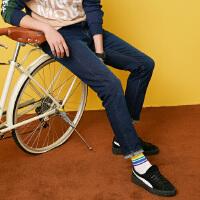 【年前最后狂欢,3件2.2折到手价:49.5】美特斯邦威旗下 4M牛仔裤男冬季简洁洗水修身小脚牛仔裤