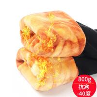 冬季加绒加厚打底裤 棉高腰三层羊羔绒保暖聚热抗寒女裤800g