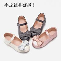 女童皮鞋黑色真皮公主鞋2019新款秋时尚韩版中大童学生儿童单鞋女
