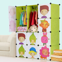 索尔诺宝宝衣柜儿童收纳柜婴儿储物柜整理塑料卡通组装衣物收纳箱M120802