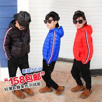 儿童羽绒服轻薄款连帽短款冬季2017韩版白鸭绒男童中大童冬装外套