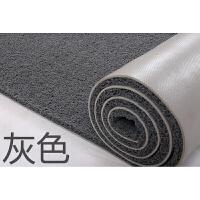 丝圈地垫进门人户门厅地垫大门口脚垫玄关塑料防滑门垫PVC地毯 灰色 纯灰色