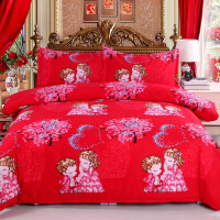 结婚用的东西女方用品大气婚房结婚床单装饰陪嫁时尚双人大红