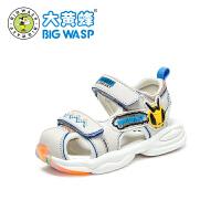 【1件5折�r:95元】大�S蜂童鞋 �����鲂�幼童�W步鞋2020夏季新款3-6�q小童透�饽行�潮