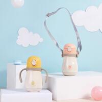 儿童保温带吸管鸭嘴学饮杯便携宝宝水杯婴儿小学生