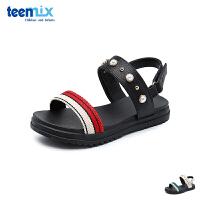 百丽天美意teenmix童鞋2018夏季新款女童时尚凉鞋儿童撞色透气学生鞋(8-12岁可选)DX0407
