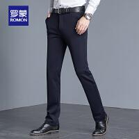 罗蒙(ROMON)男士休闲裤2021夏季薄款商务修身工装长裤中青年直筒百搭西裤