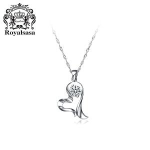 皇家莎莎S925银项链女吊坠锁骨链颈链-知心爱人(赠送银链)