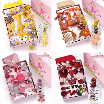 糖果公主24件套发夹女夹子头饰韩国发卡可爱公主皮筋发饰套