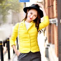 冬季新款韩版新款轻薄羽绒服女短款大码修身女装外套潮