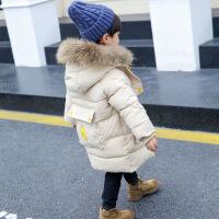 №【2019新款】冬天�和�穿的男童棉衣冬�b小�和�羽�q中�L款加厚外套洋�����棉�\