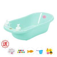 20180822215518358婴儿洗澡盆新生儿可坐躺浴盆通用宝宝多功能儿童大号超大防滑浴盘