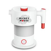 亚摩斯(AMOS)迪士尼折叠电水壶食品级硅胶烧水壶电热水壶旅行携带 AS-ZL06C